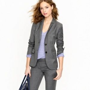 J. Crew 1035 Super 120's Two Button Jacket Gray